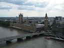 Palace of Westminster, the Abbey, and Westminster Bridge from the capsule